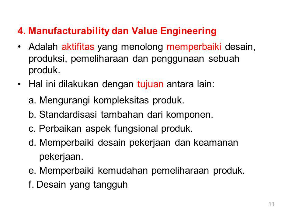 4. Manufacturability dan Value Engineering