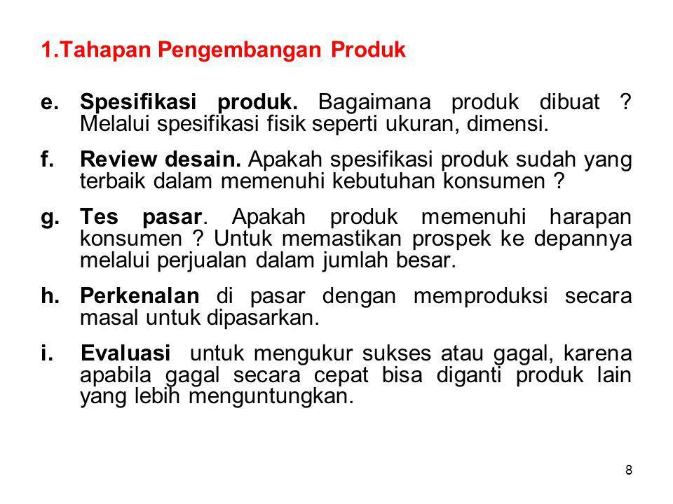 1.Tahapan Pengembangan Produk
