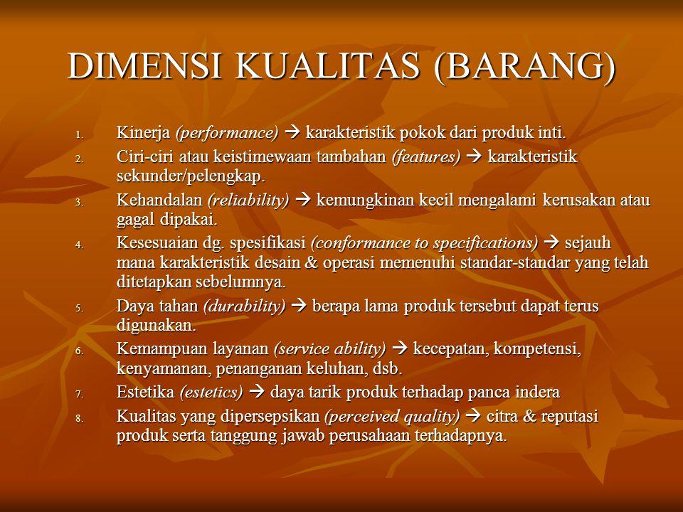 DIMENSI KUALITAS (BARANG)
