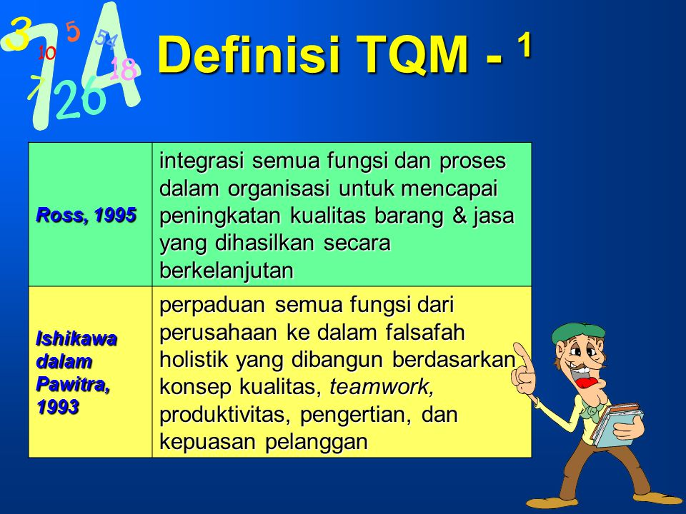Definisi TQM - 1 Ross, 1995.