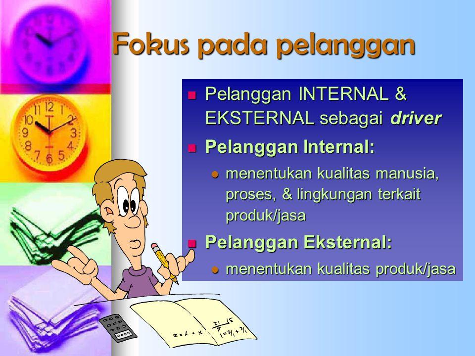 Fokus pada pelanggan Pelanggan INTERNAL & EKSTERNAL sebagai driver