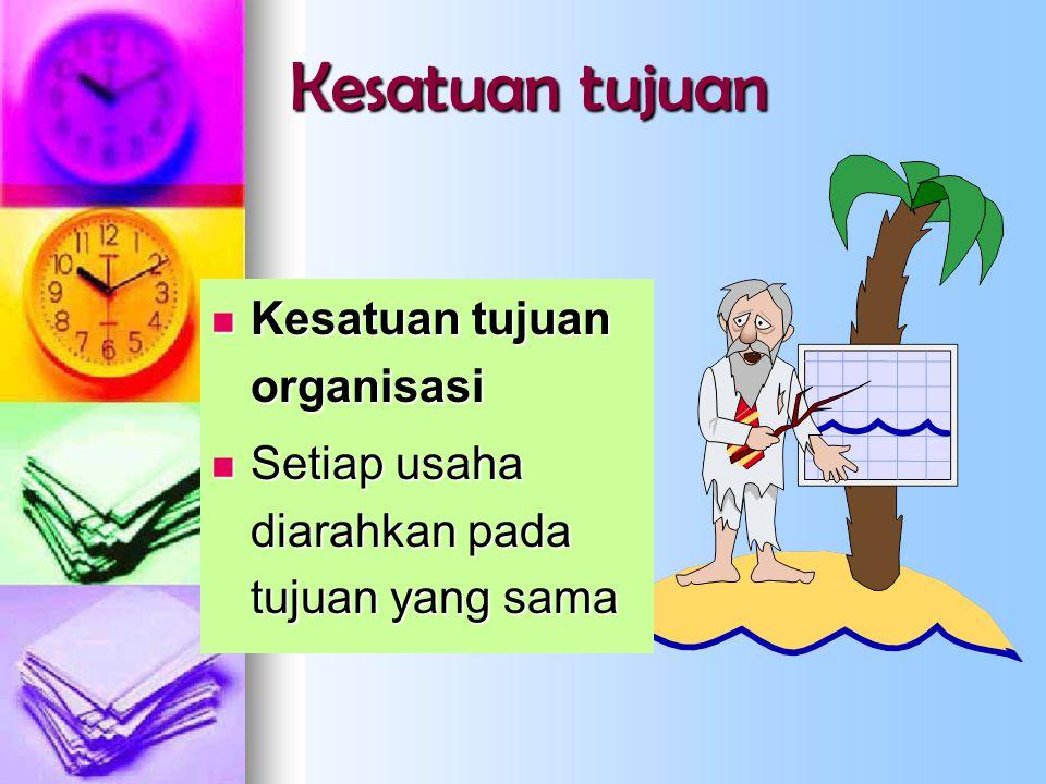 Kesatuan tujuan Kesatuan tujuan organisasi