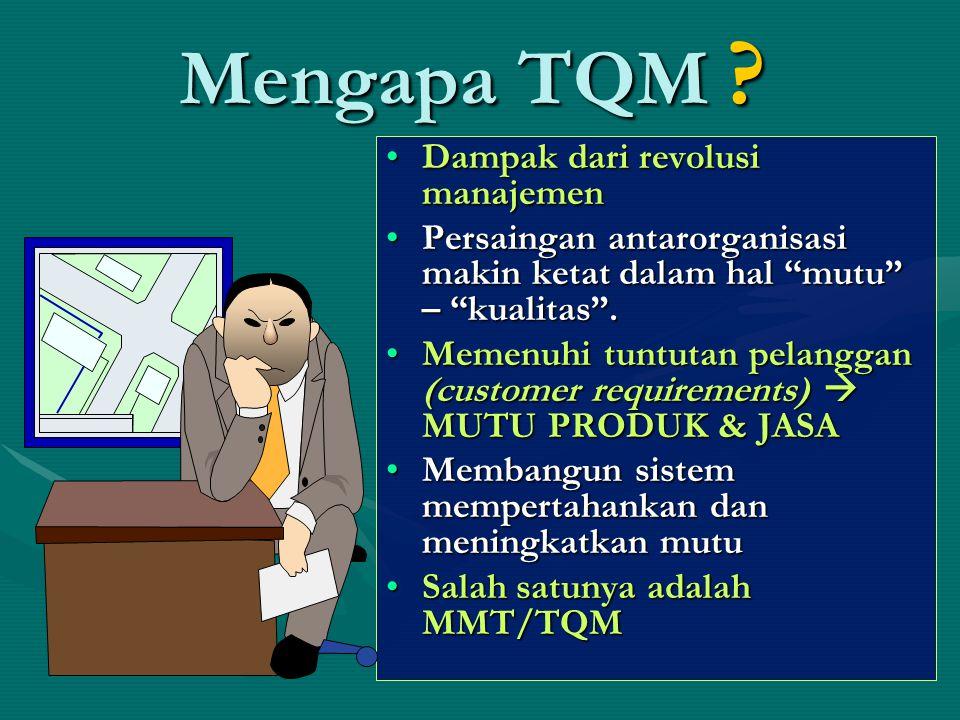 Mengapa TQM Dampak dari revolusi manajemen