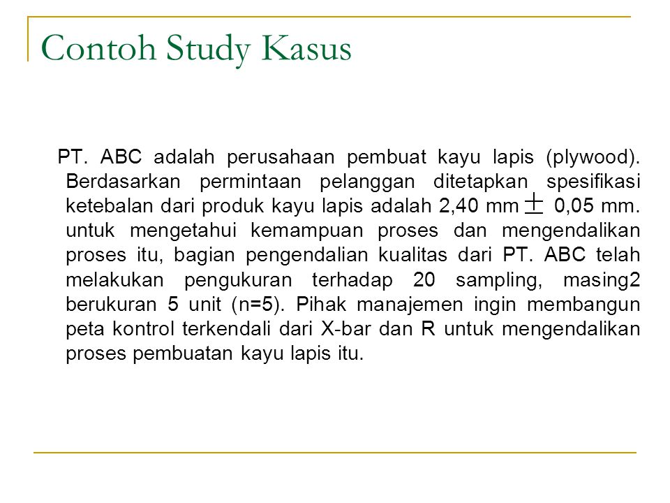 Contoh Study Kasus
