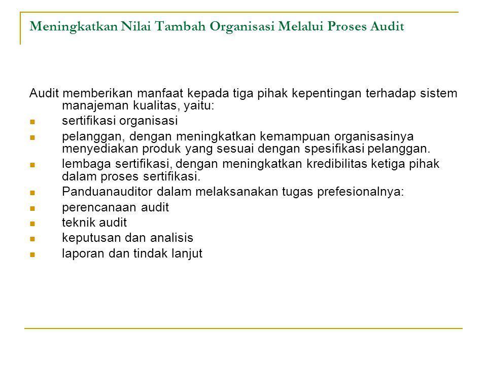 Meningkatkan Nilai Tambah Organisasi Melalui Proses Audit