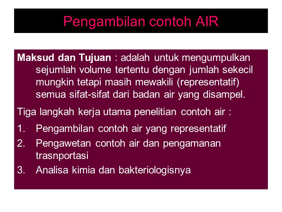 Pengambilan contoh AIR