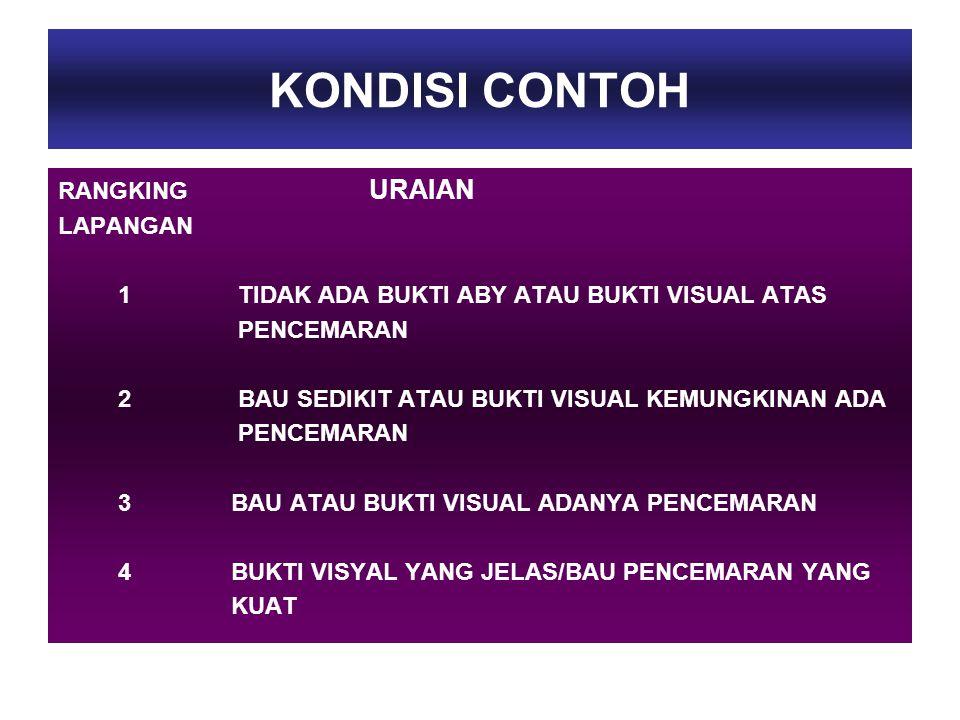 KONDISI CONTOH RANGKING URAIAN LAPANGAN