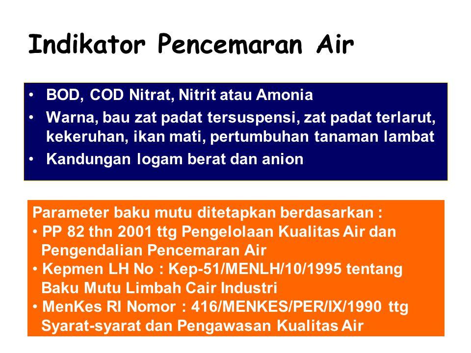 Indikator Pencemaran Air