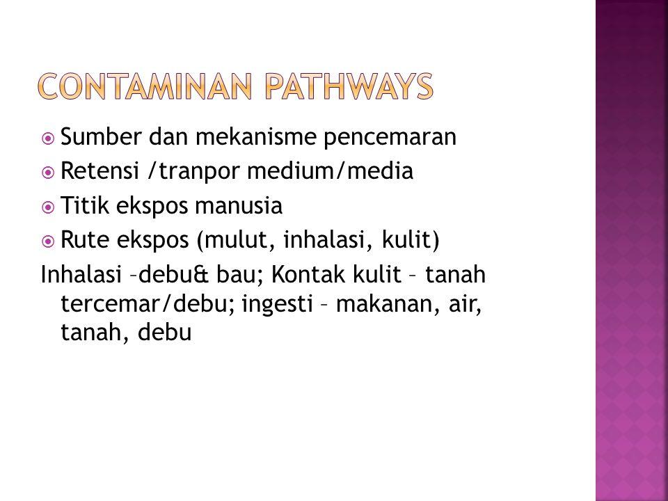 Contaminan Pathways Sumber dan mekanisme pencemaran