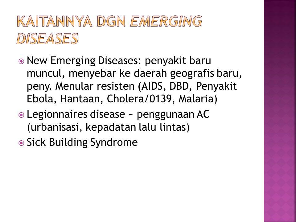 Kaitannya dgn Emerging Diseases