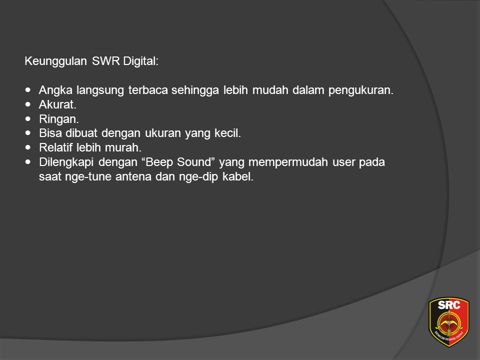 Diklat Senkom Pusat Keunggulan SWR Digital: