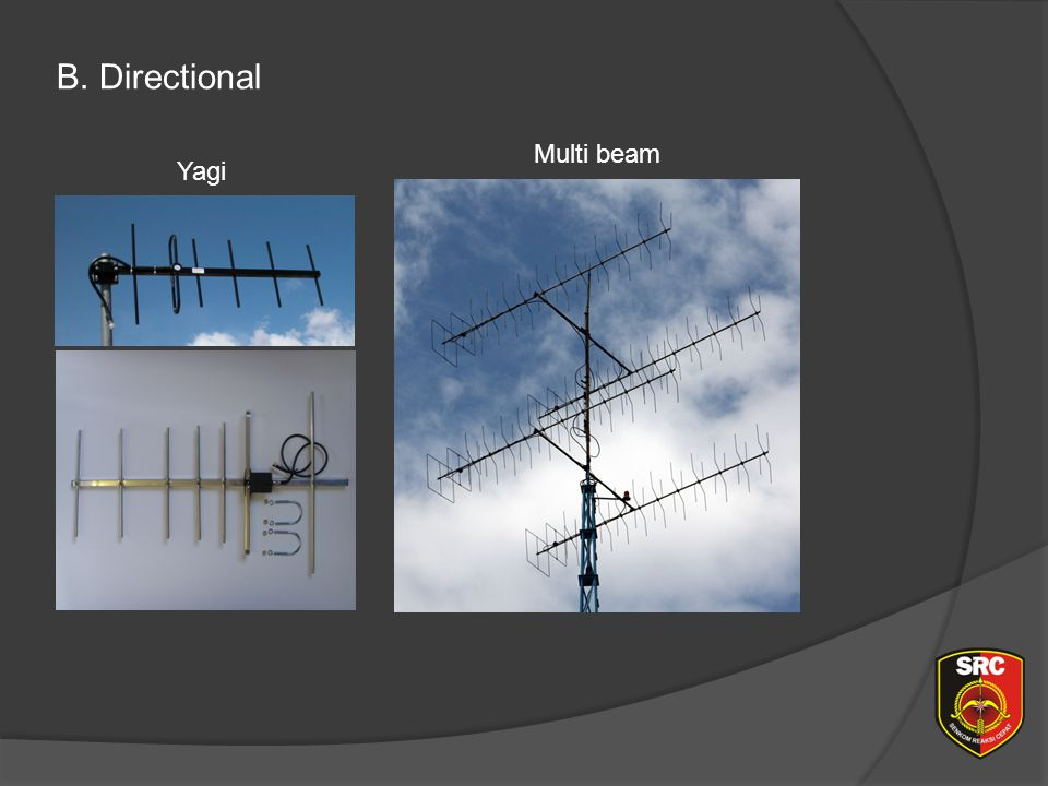 Diklat Senkom Pusat B. Directional Multi beam Yagi