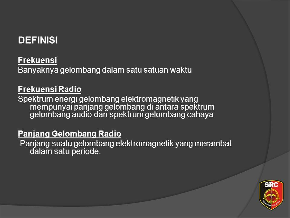 Diklat Senkom Pusat DEFINISI Frekuensi