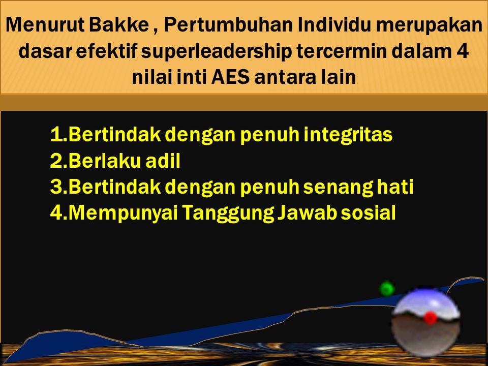 Menurut Bakke , Pertumbuhan Individu merupakan dasar efektif superleadership tercermin dalam 4 nilai inti AES antara lain
