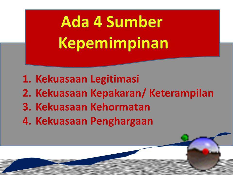 Ada 4 Sumber Kepemimpinan