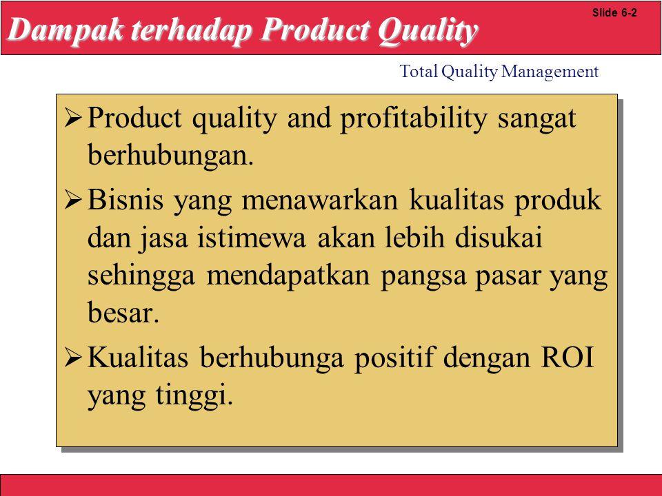 Dampak terhadap Product Quality