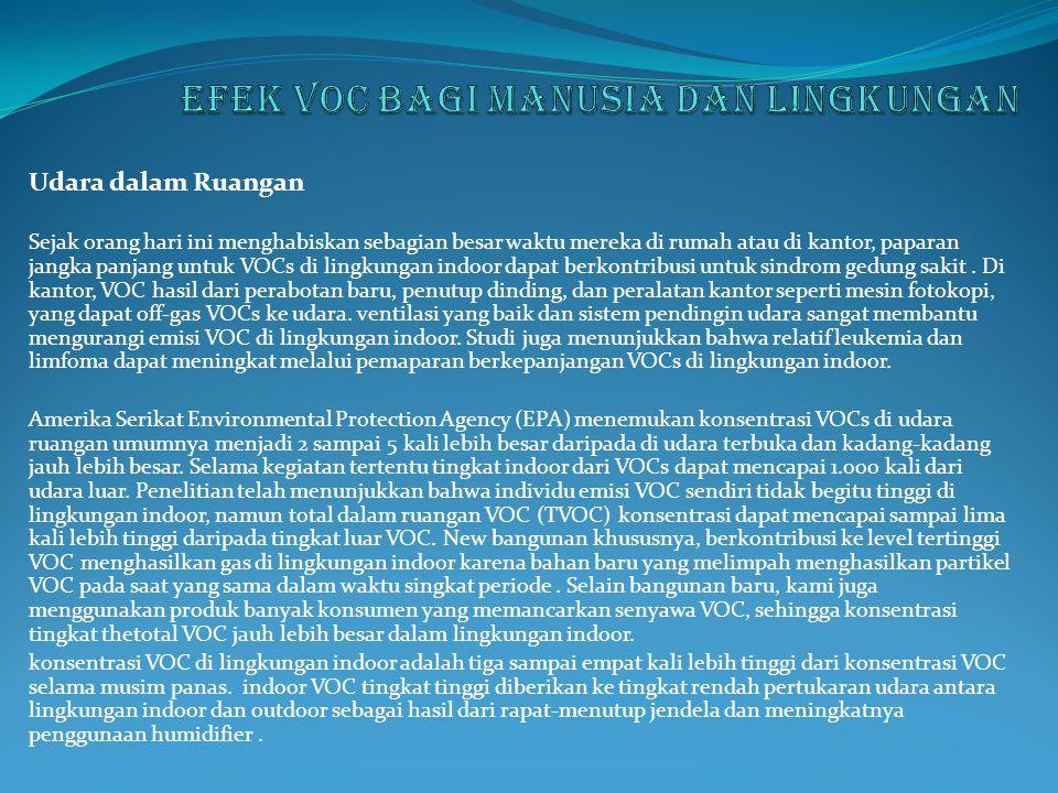 Efek voc bagi manusia dan lingkungan