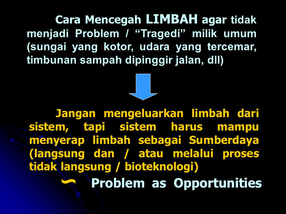 ∽ Problem as Opportunities