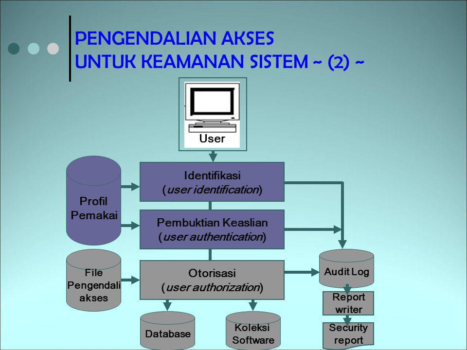 (user identification) (user authentication)
