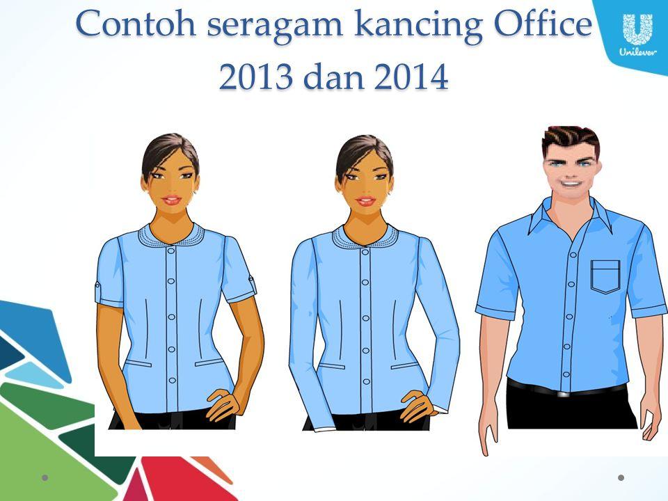 Contoh seragam kancing Office 2013 dan 2014