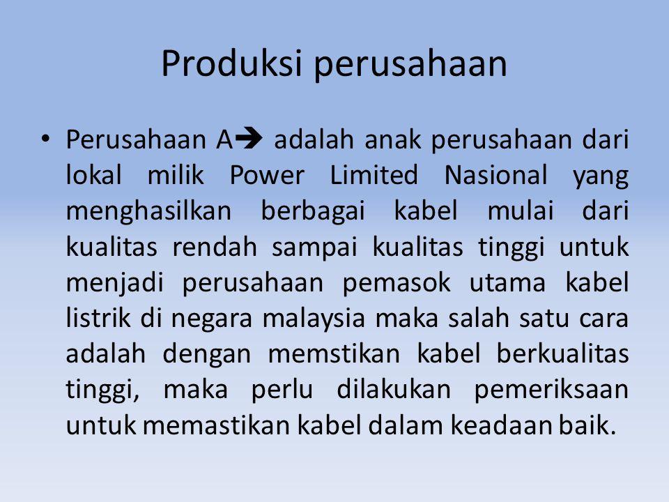 Produksi perusahaan