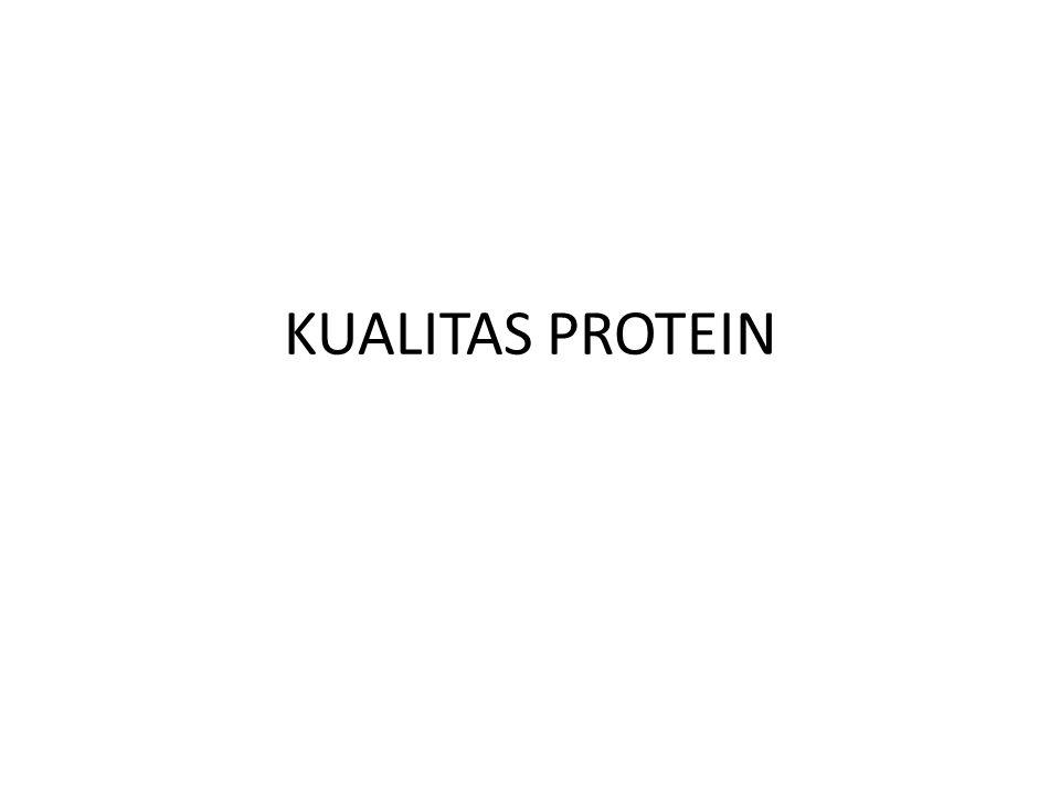 KUALITAS PROTEIN