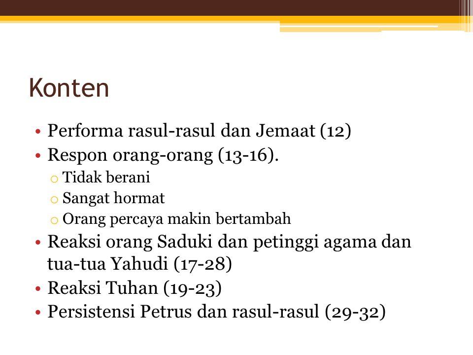 Konten Performa rasul-rasul dan Jemaat (12)