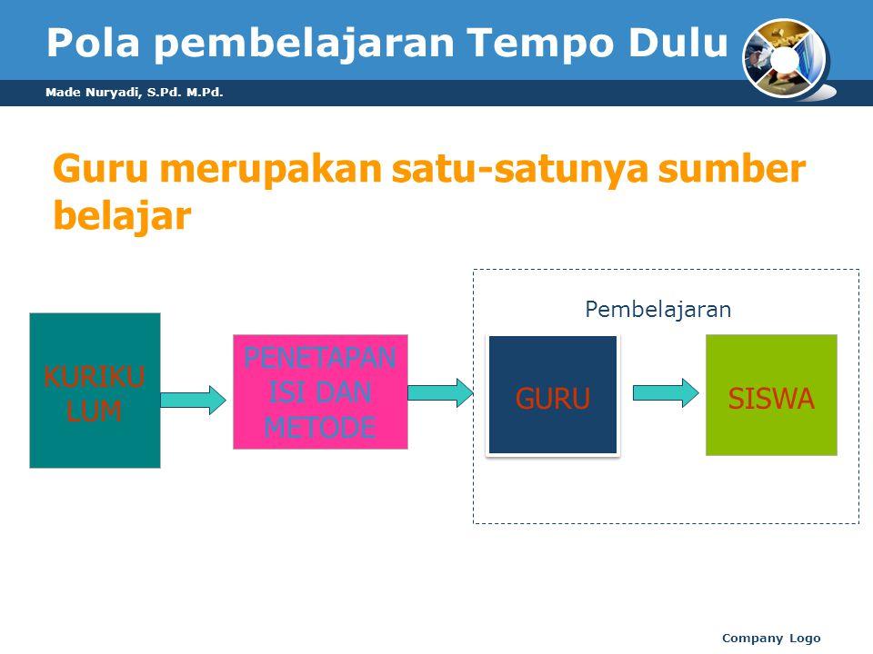 Pola pembelajaran Tempo Dulu