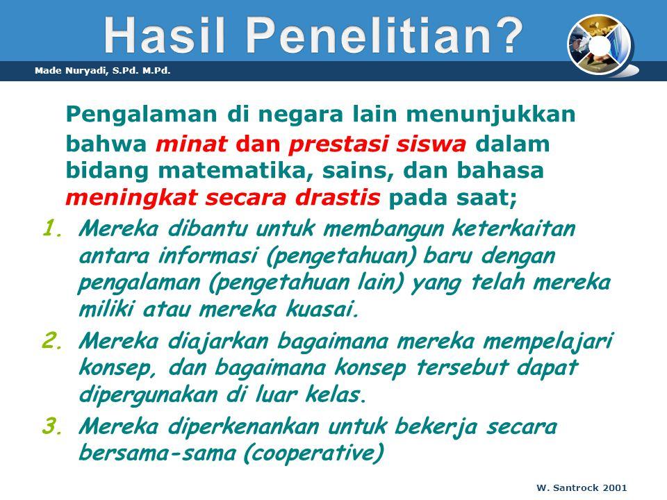 Hasil Penelitian Made Nuryadi, S.Pd. M.Pd.