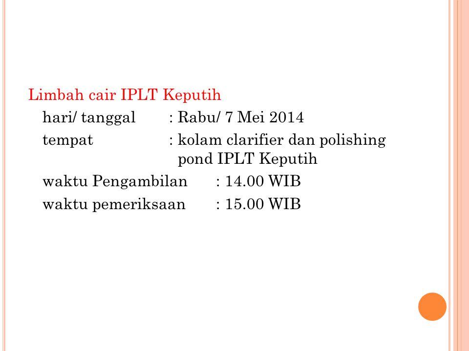 Limbah cair IPLT Keputih