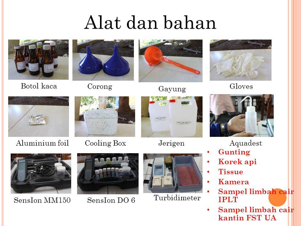 Alat dan bahan Botol kaca Corong Gloves Gayung Aluminium foil