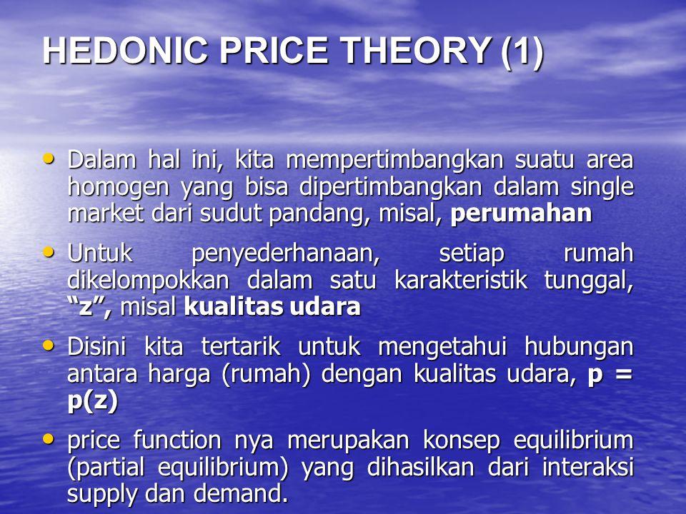 HEDONIC PRICE THEORY (1)