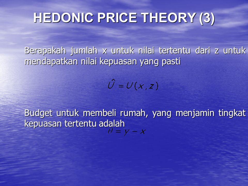 HEDONIC PRICE THEORY (3)