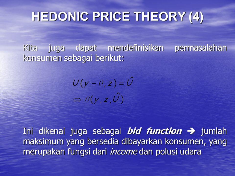 HEDONIC PRICE THEORY (4)