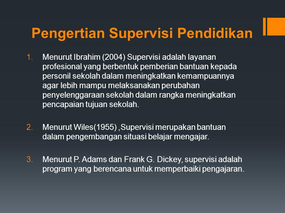 Pengertian Supervisi Pendidikan