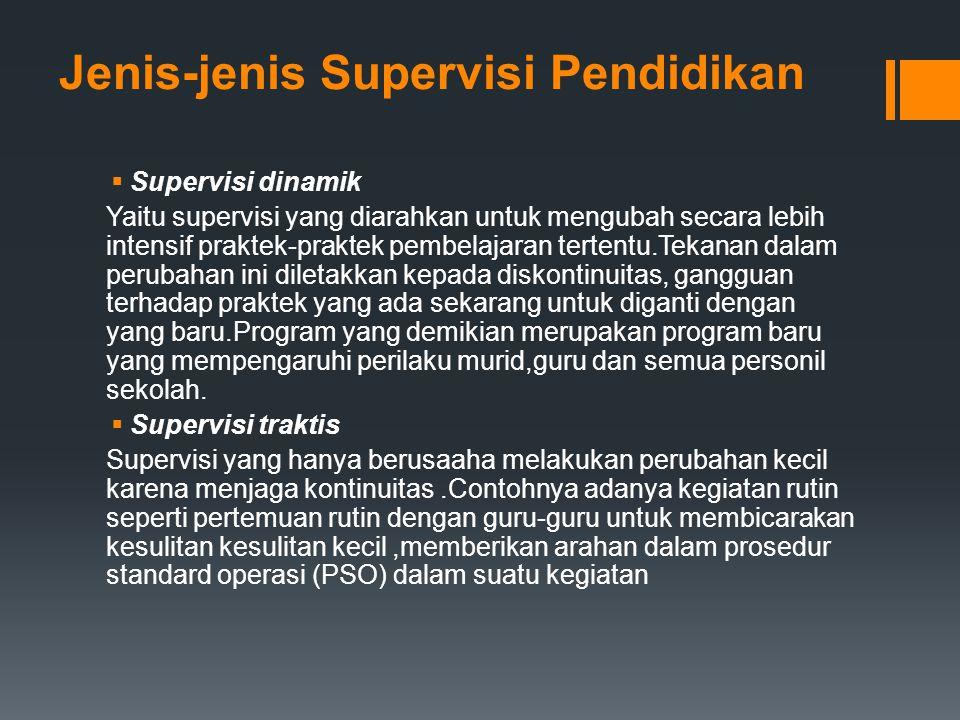 Jenis-jenis Supervisi Pendidikan