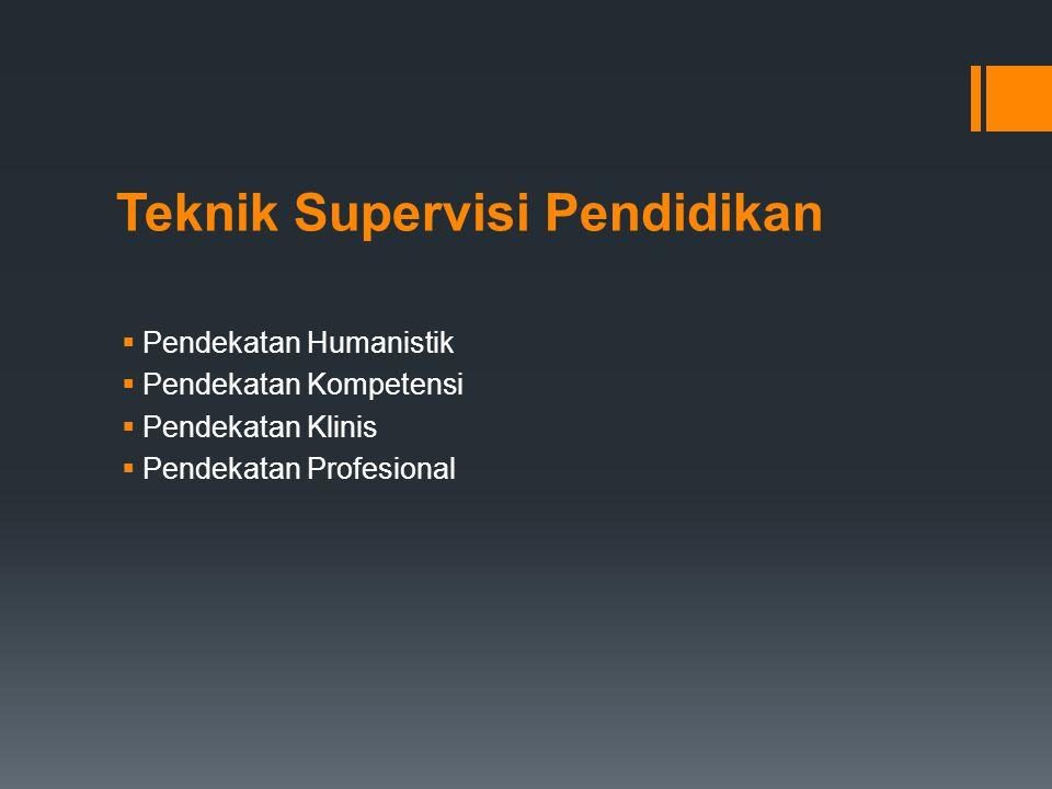 Teknik Supervisi Pendidikan