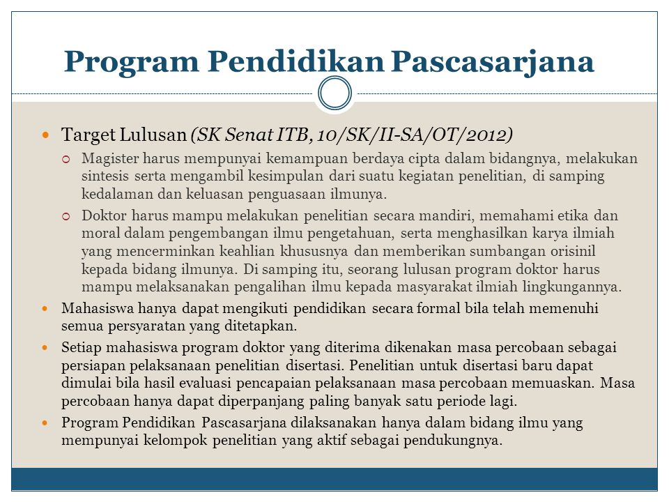 Program Pendidikan Pascasarjana