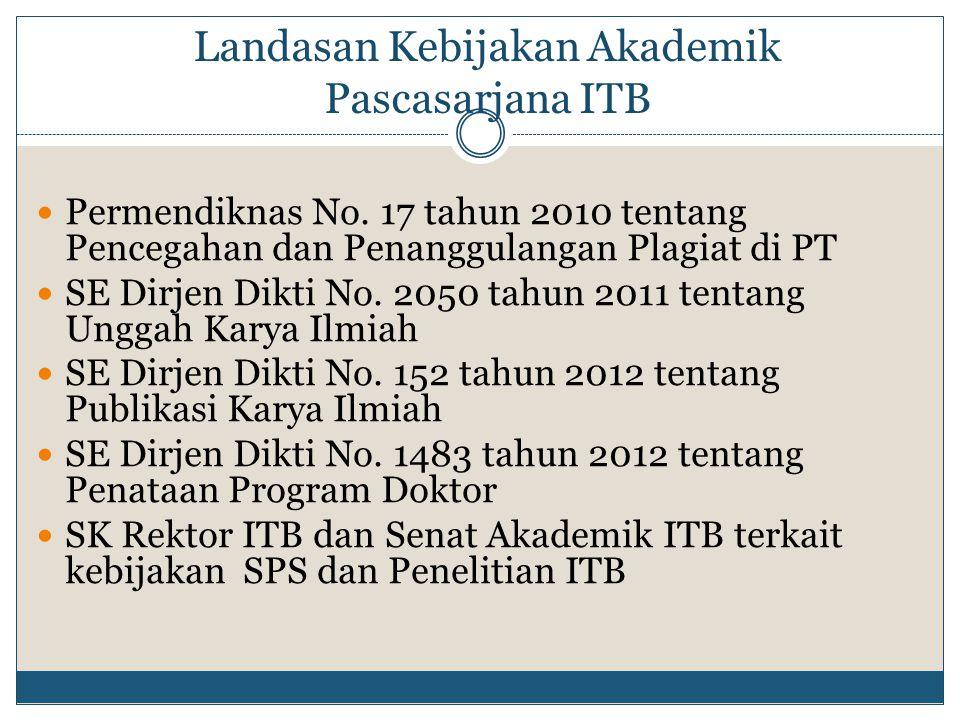 Landasan Kebijakan Akademik Pascasarjana ITB