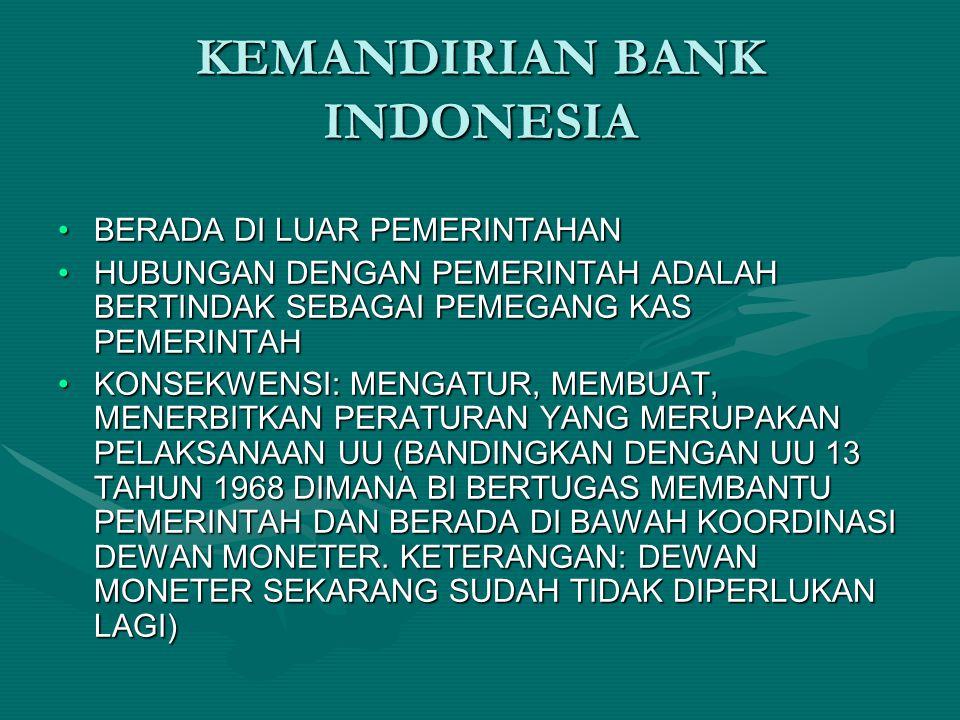 KEMANDIRIAN BANK INDONESIA