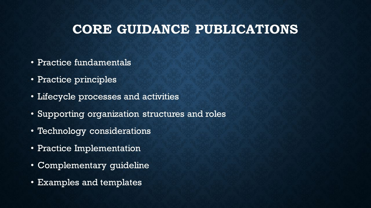 core guidance publications