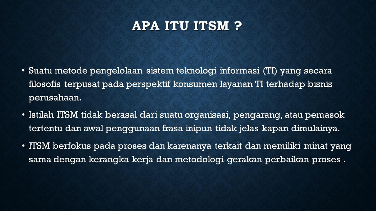 Apa itu ITSM