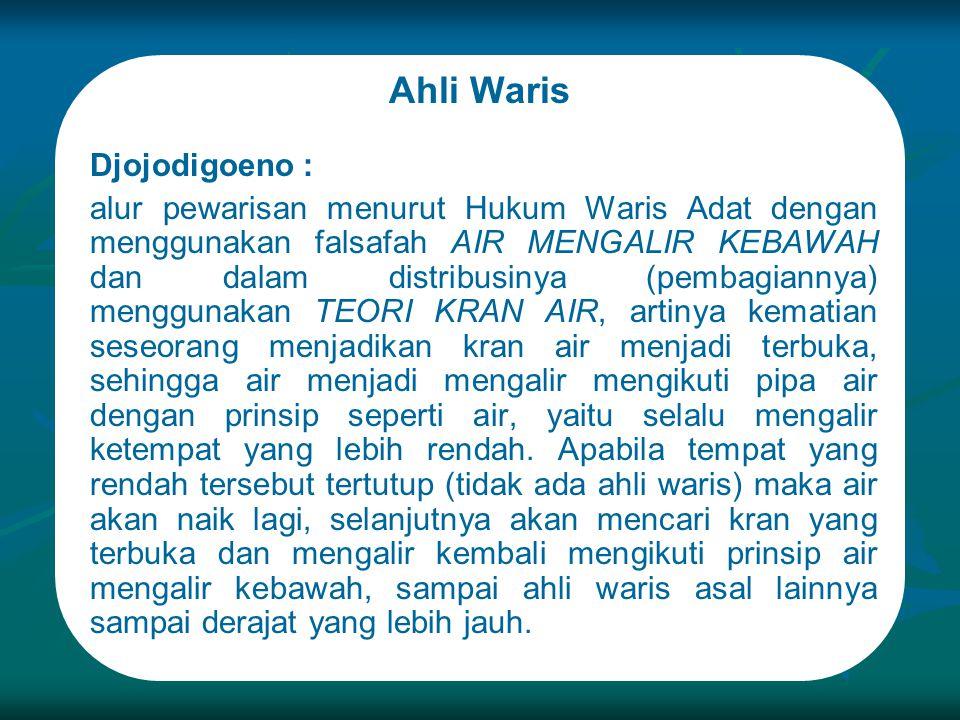 Ahli Waris Djojodigoeno :