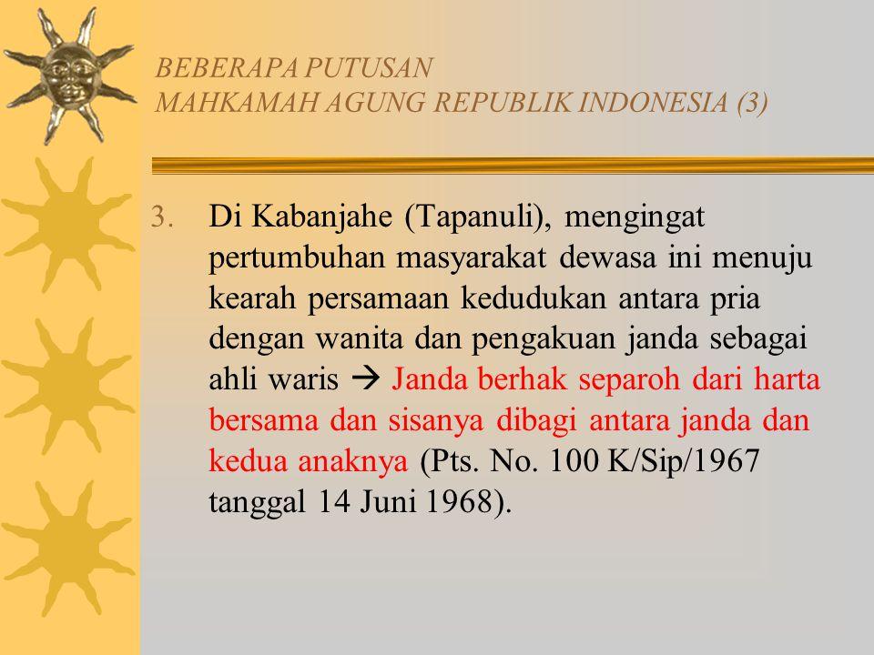 BEBERAPA PUTUSAN MAHKAMAH AGUNG REPUBLIK INDONESIA (3)