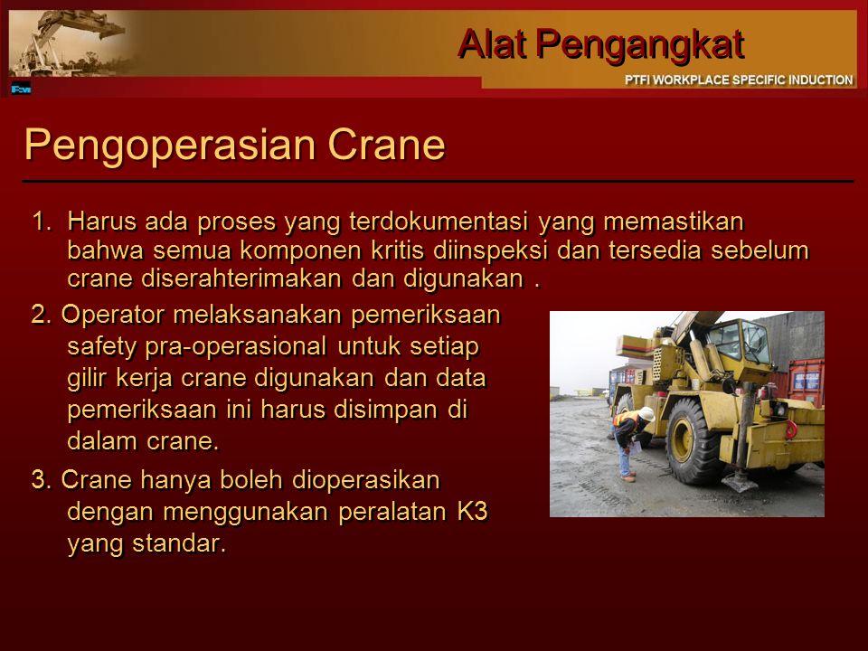 Pengoperasian Crane