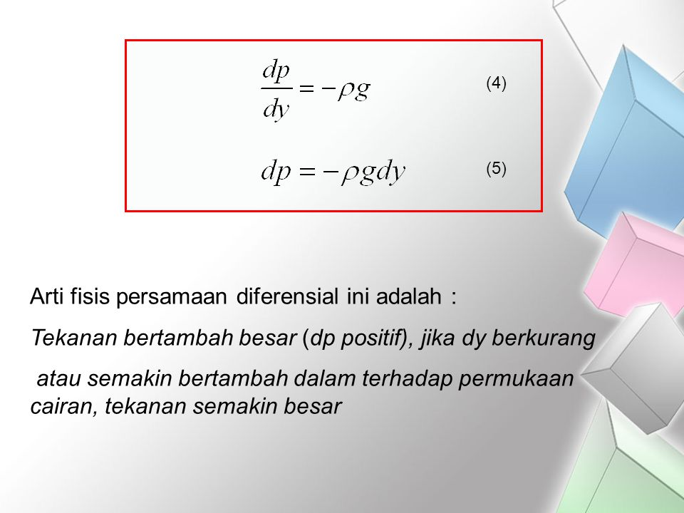 Arti fisis persamaan diferensial ini adalah :