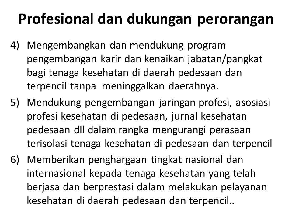 Profesional dan dukungan perorangan