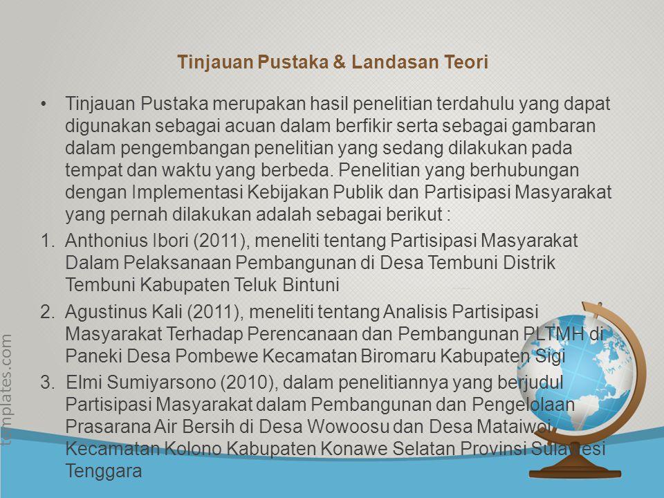 Tinjauan Pustaka & Landasan Teori