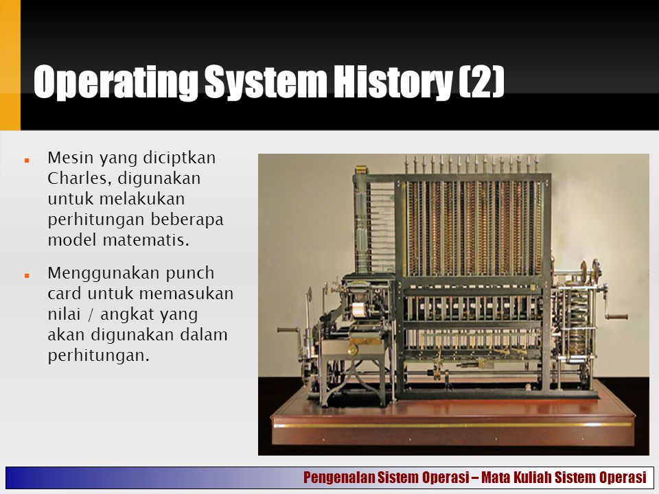 Operating System History (2)