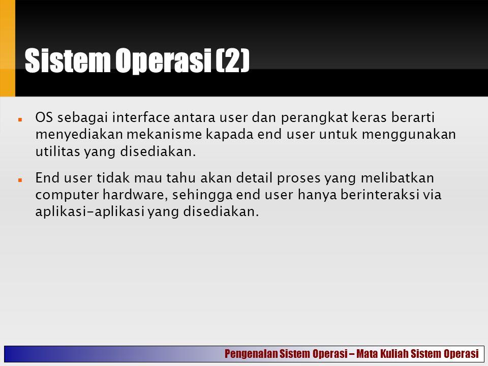 Sistem Operasi (2)